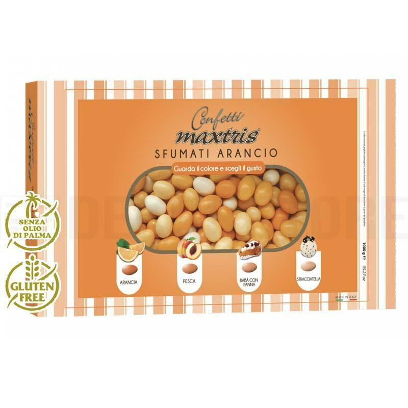maxtris confetti maxtris sfumati arancio - 1 kg