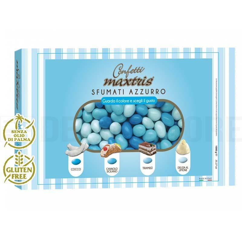 maxtris confetti maxtris sfumati azzurro - 1 kg