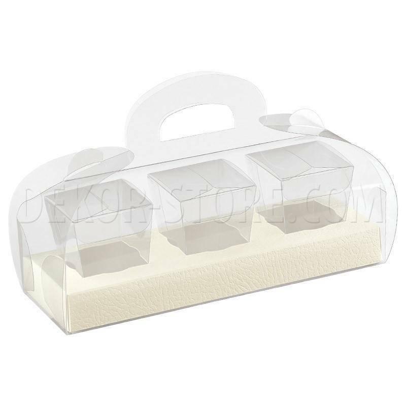 scotton spa tortina con 3 bicchierini in pvc pelle bianco - 185x60x80 mm