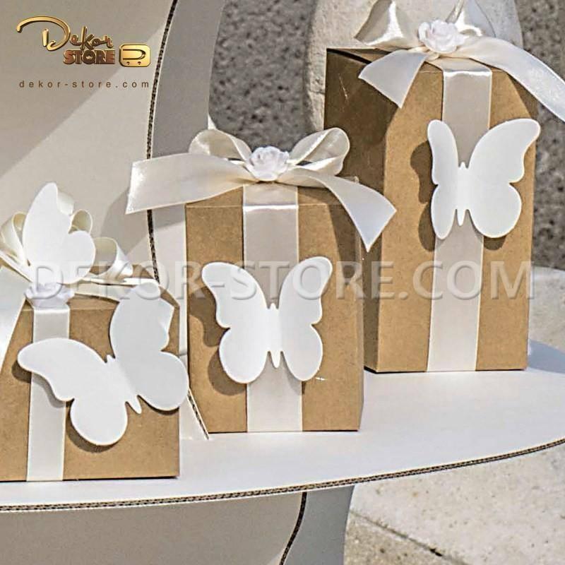 scotton spa farfalla in cartoncino white 75x60 mm - 4 pz