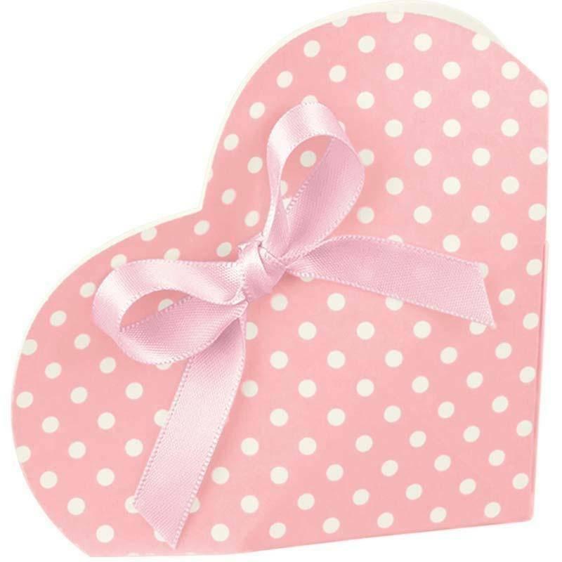 scotton spa cuore porta confetti atelier rosa 50x25x90 mm - 10 pz