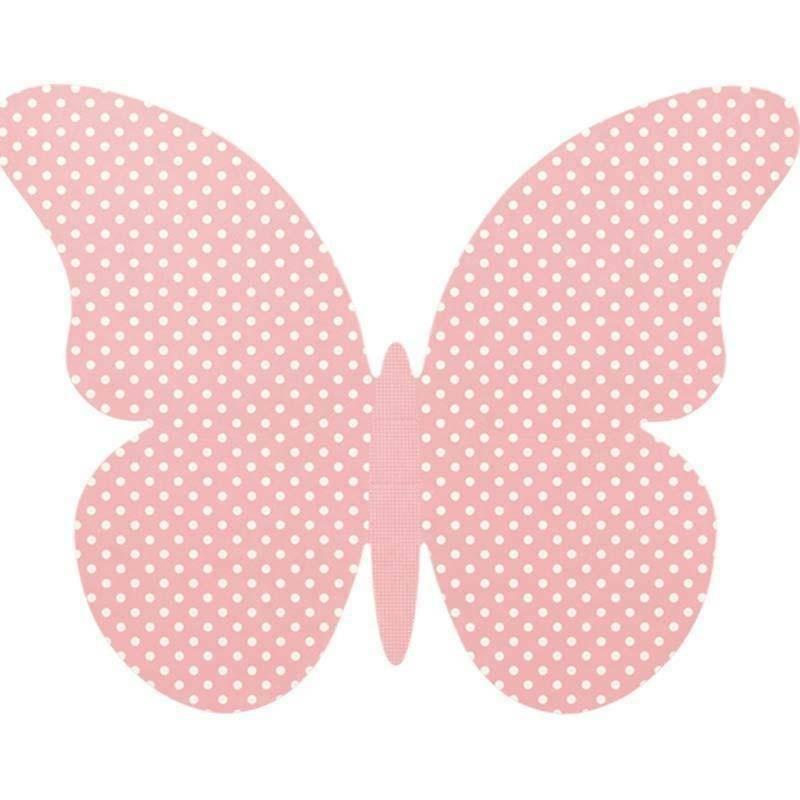 scotton spa farfalla in cartoncino atelier rosa 75x60 mm - 4 pz