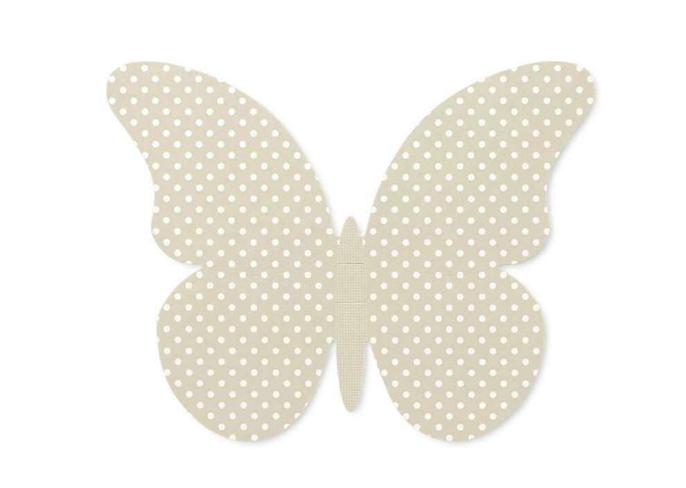 scotton spa set 3 farfalle in cartoncino atelier tortora misure assortite