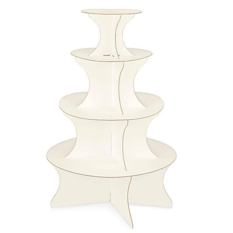 scotton spa scotton spa alzata 4 piani d. 630xh1000 mm in cartone effetto seta bianco