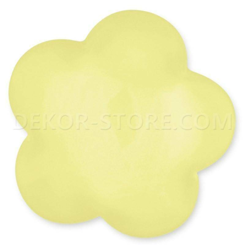 scotton spa scotton spa fiore stilizzato giallo in resina - 24 x 24 mm