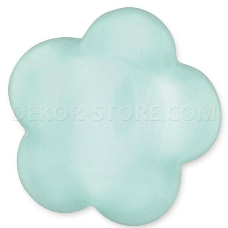 scotton spa scotton spa fiore stilizzato verde acqua in resina - 24 x 24 mm