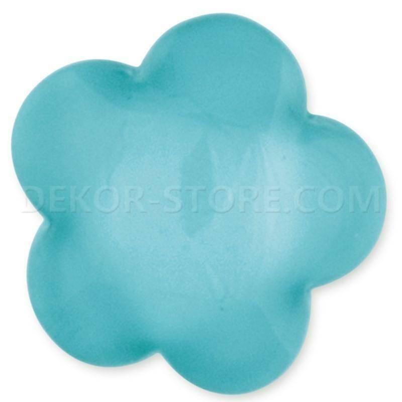 scotton spa scotton spa fiore stilizzato azzurro in resina - 24 x 24 mm