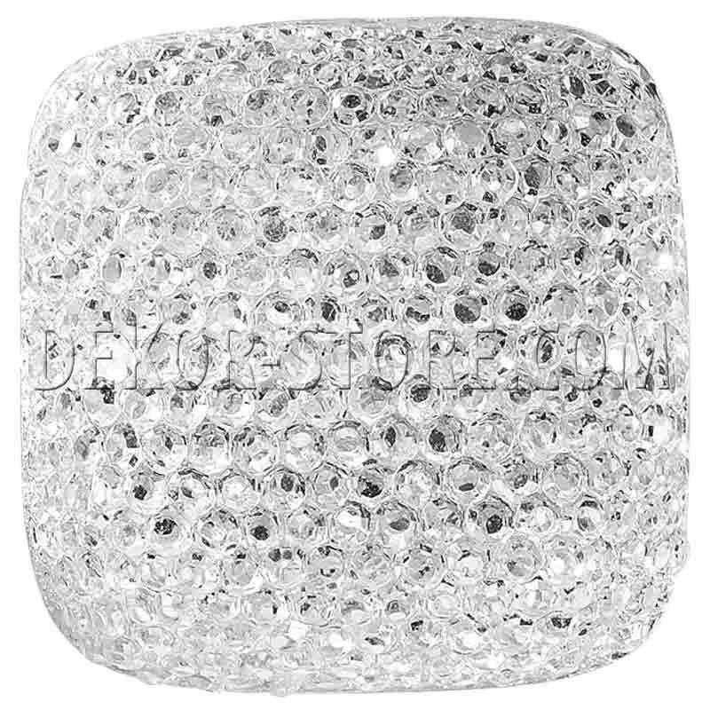 scotton spa scotton spa bottone 24x24 mm quadrato effetto cristallo bianco