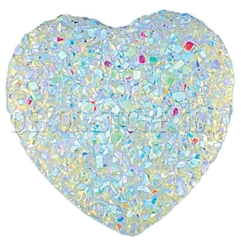 scotton spa scotton spa punto luce cuore effetto cristallo trasparente - 28 x 28 mm