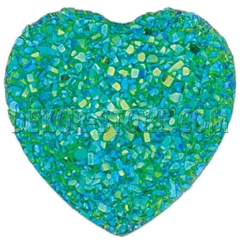scotton spa scotton spa punto luce cuore effetto cristallo verde - 18 x 18 mm