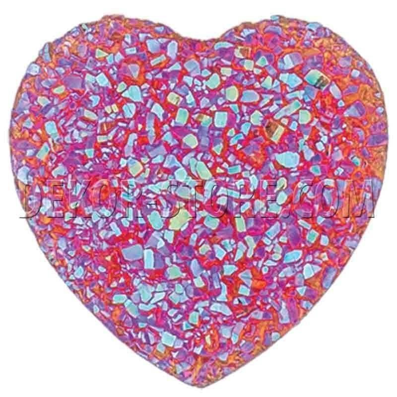 scotton spa scotton spa punto luce cuore effetto cristallo fuxia - 18 x 18 mm