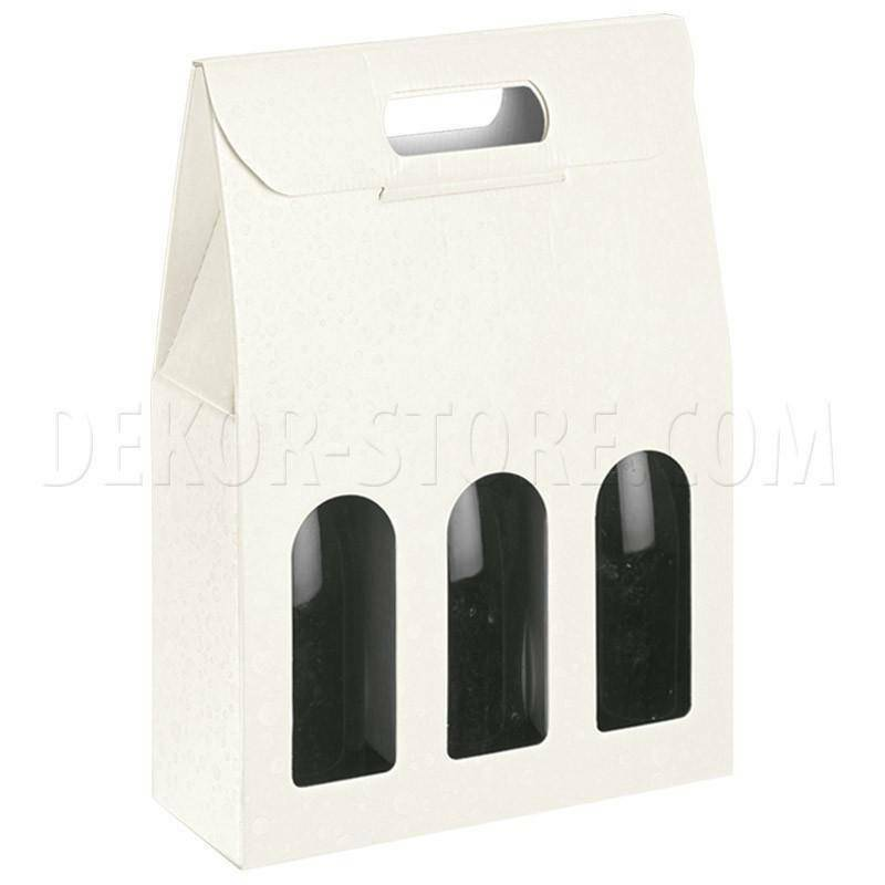 scotton spa scotton spa scatola 3 bottiglie con maniglia - sfere bianco