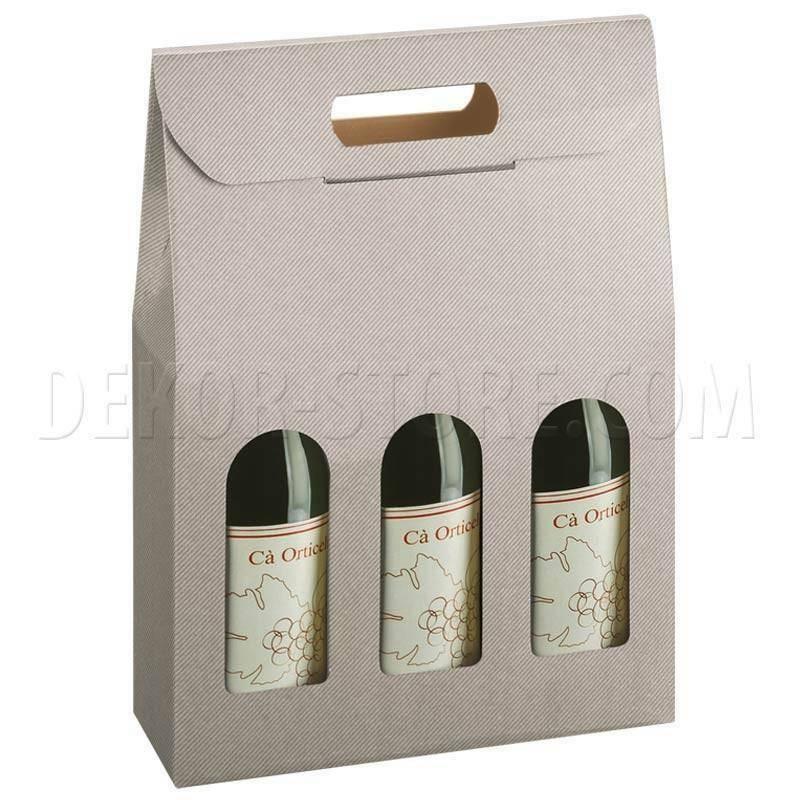 scotton spa scotton spa scatola 3 bottiglie con maniglia - tortora