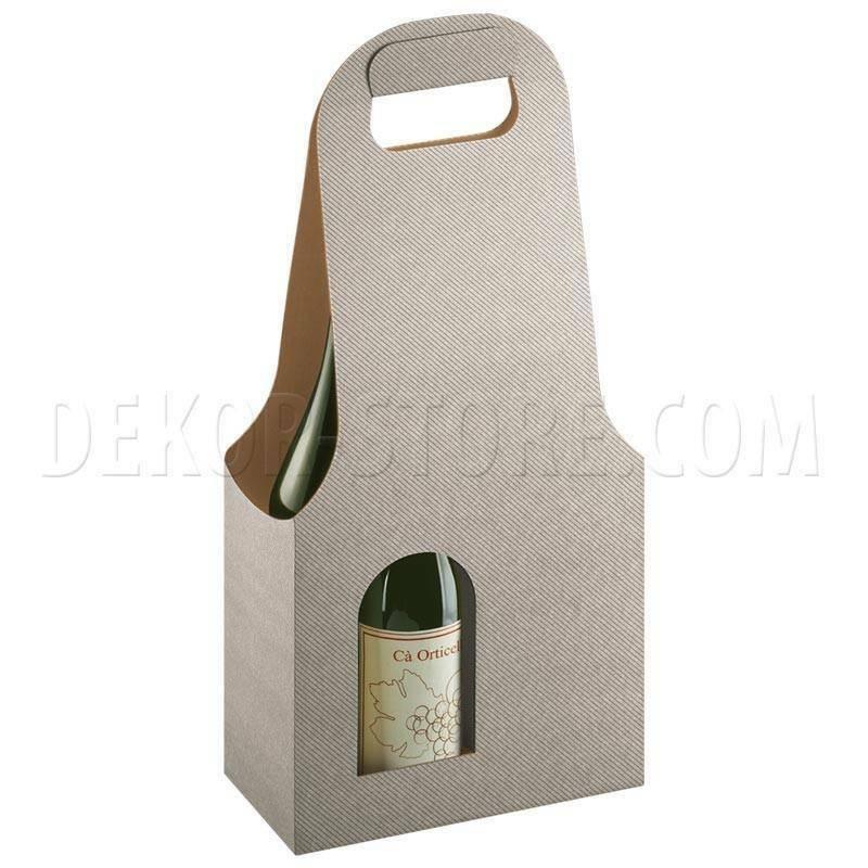 scotton spa scotton spa scatola 2 bottiglie con maniglia - tortora bag new
