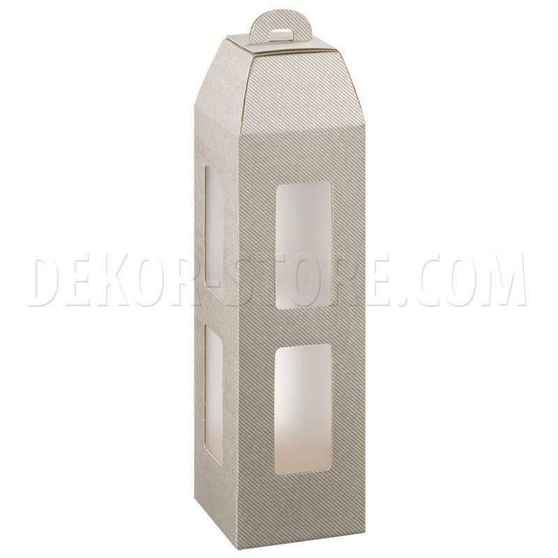 scotton spa scotton spa scatola 1 bottiglia lanterna - tortora con inserto ghiaccio