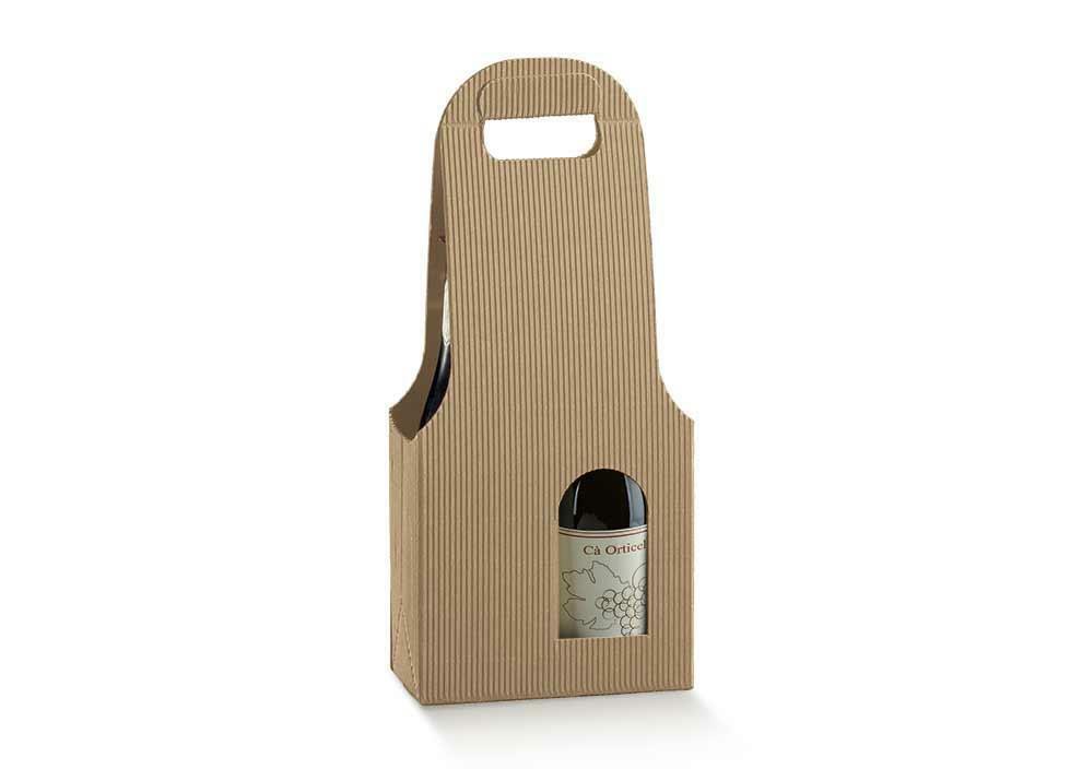scotton spa scotton spa scatola 2 bottiglie con maniglia - onda avana - bag new