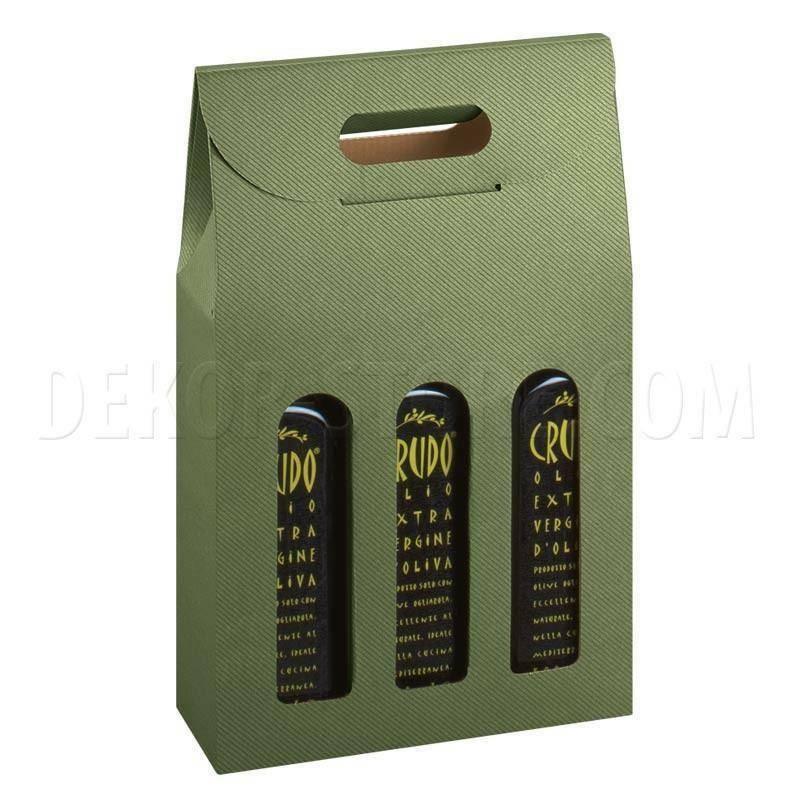 scotton spa scotton spa scatola olivia 3 bottiglie 170x55x305 mm - verde