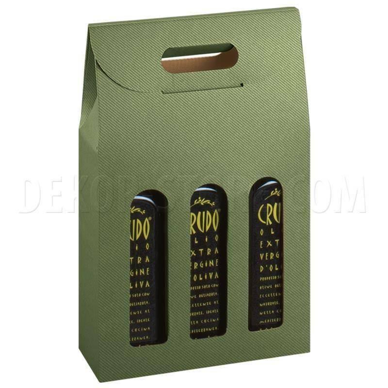 scotton spa scotton spa scatola olivia 3 bottiglie 200x65x335 mm - verde