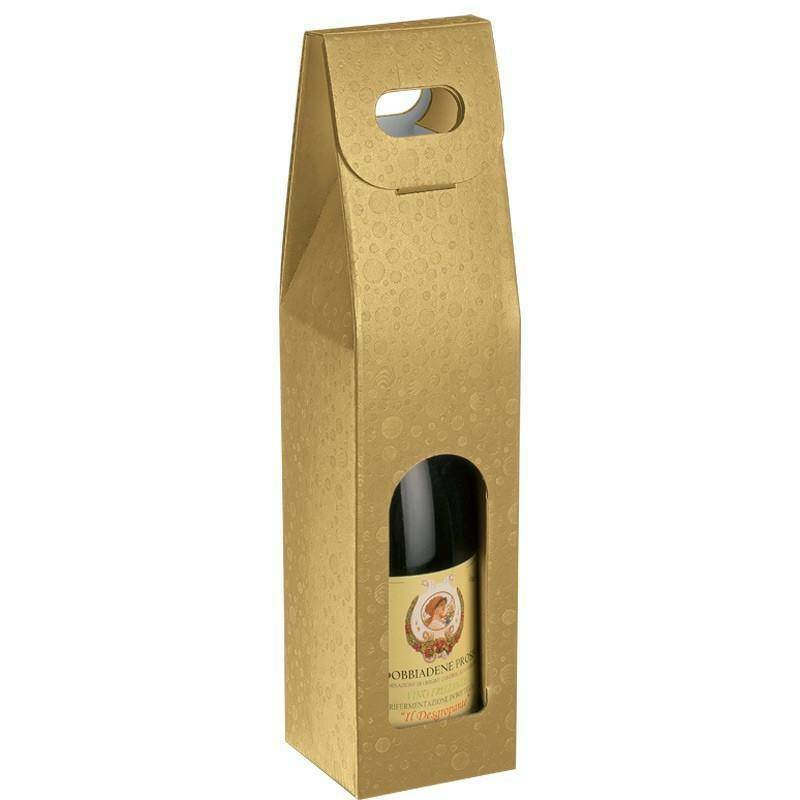 scotton spa scotton spa scatola 1 bottiglia con maniglia - sfere oro