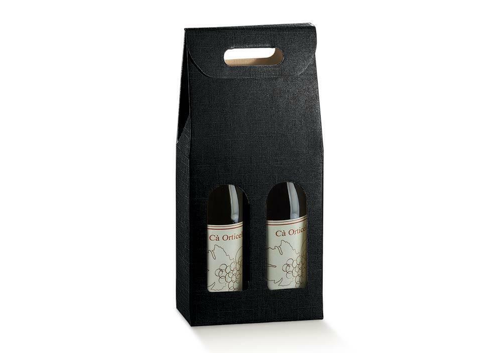 scotton spa scotton spa scatola 2 bottiglie 180x90x385 mm - seta nero