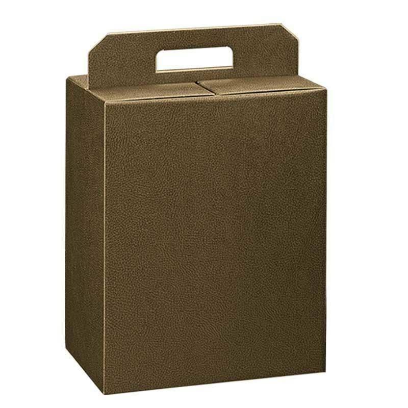 scotton spa scotton spa pacco dono con maniglia 280x200x350 - pelle marrone
