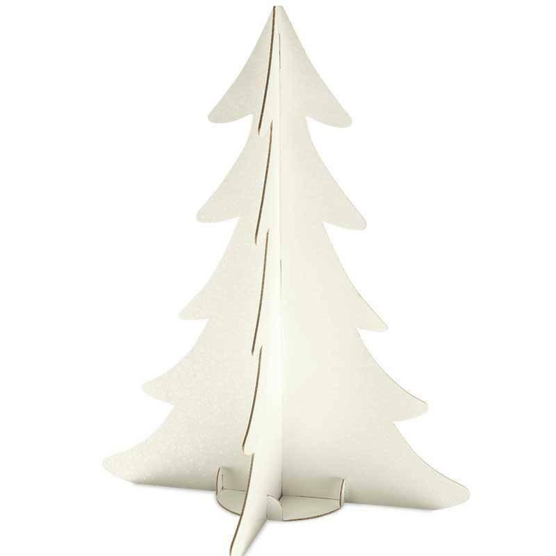 scotton spa scotton spa albero natale stilizzato h. 595 mm - cartone sfere bianco