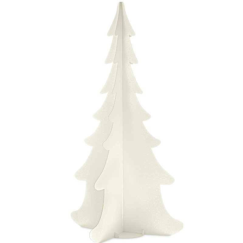 scotton spa scotton spa albero natale stilizzato h. 1385 mm - cartone sfere bianco