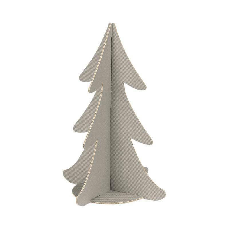 scotton spa scotton spa albero natale stilizzato h. 355 mm - cartone tortora