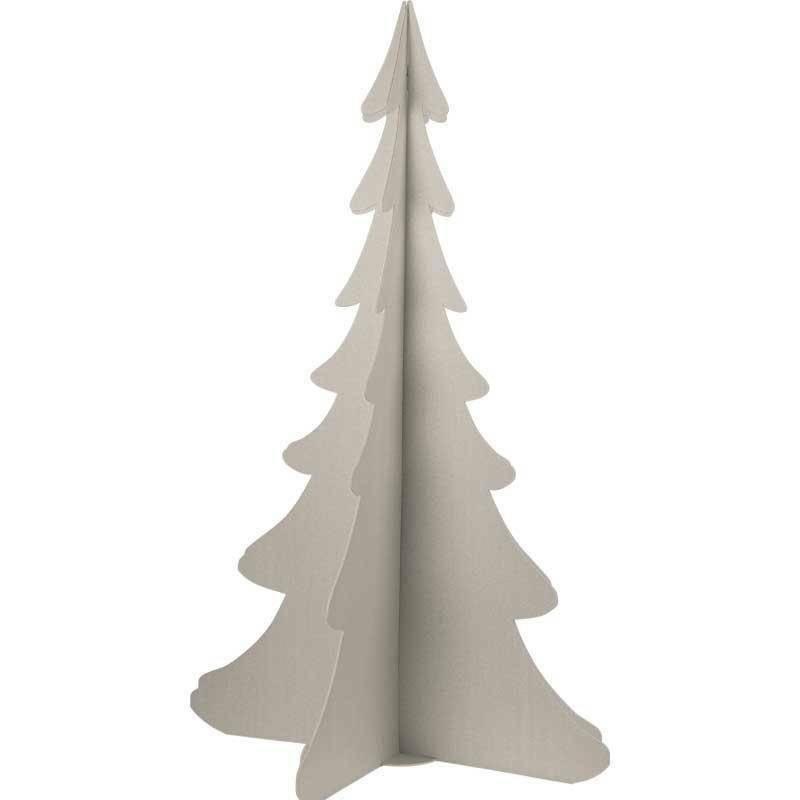scotton spa scotton spa albero natale stilizzato h. 1385 mm - cartone tortora
