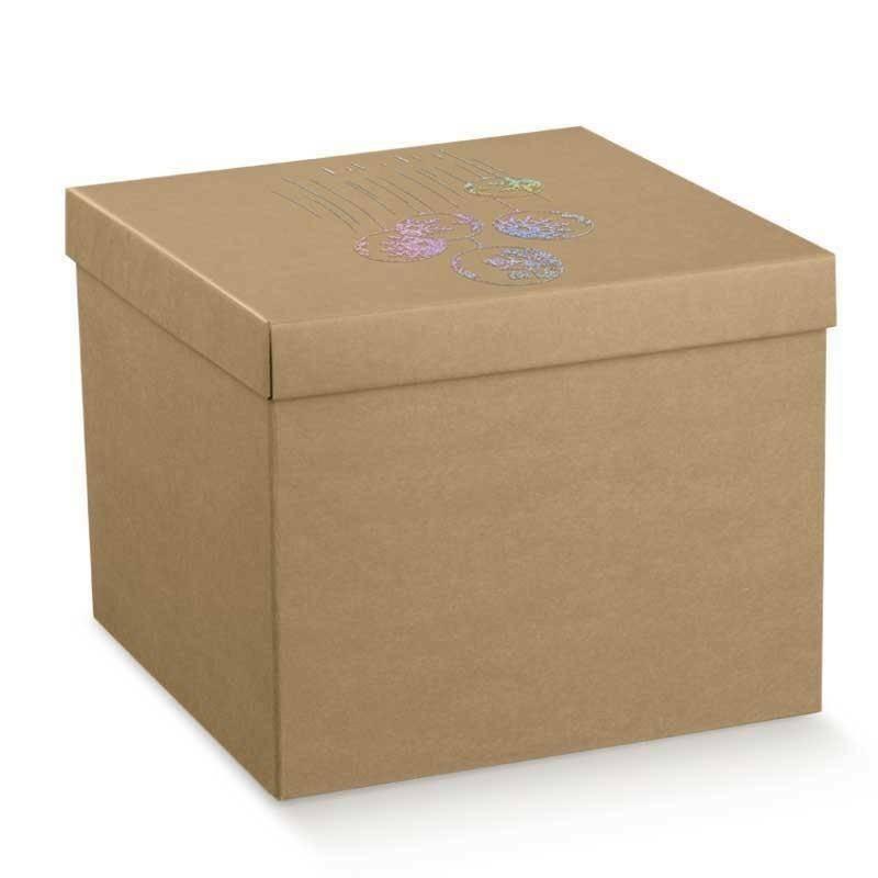 scotton spa scotton spa scatola 300x300x240mm sfere avana - fondo e coperchio