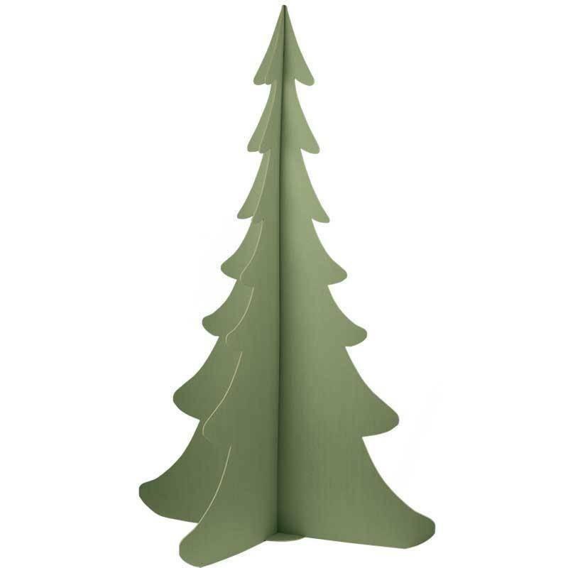 scotton spa scotton spa albero natale stilizzato h. 1385 mm - cartone verde