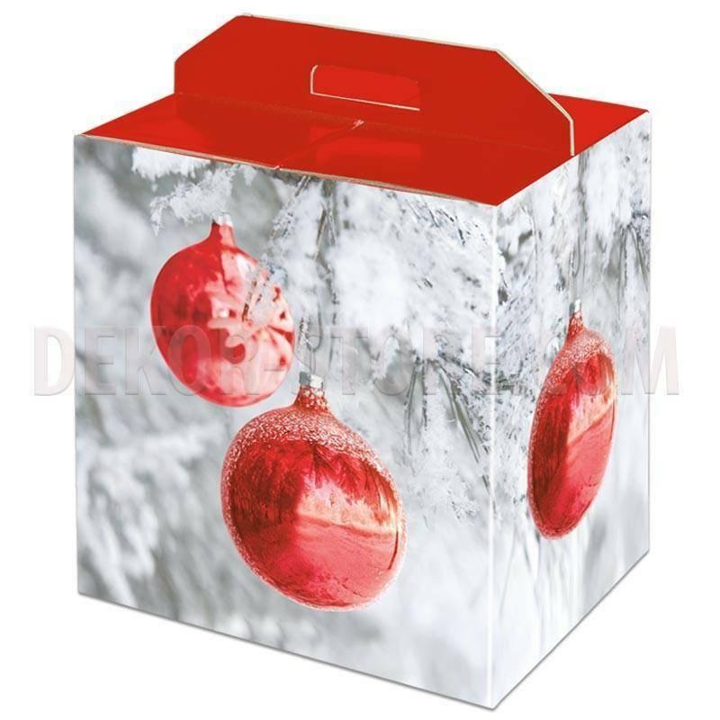 scotton spa scotton spa pacco dono con maniglia 330x250x350 mm - sfere rosse