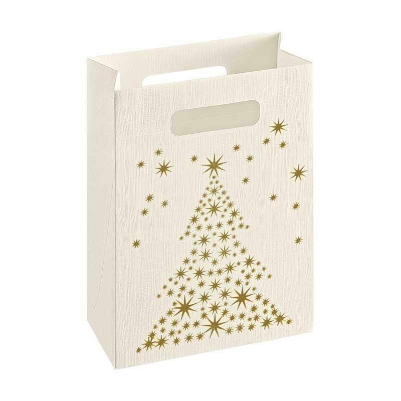 scotton spa scotton spa shopper box 160x80x230 mm - golden tree seta bianco