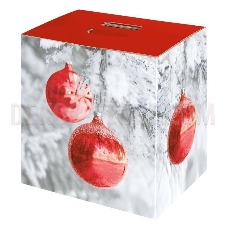 scotton spa scotton spa pacco dono cubo 280x200x350 mm - sfere rosse