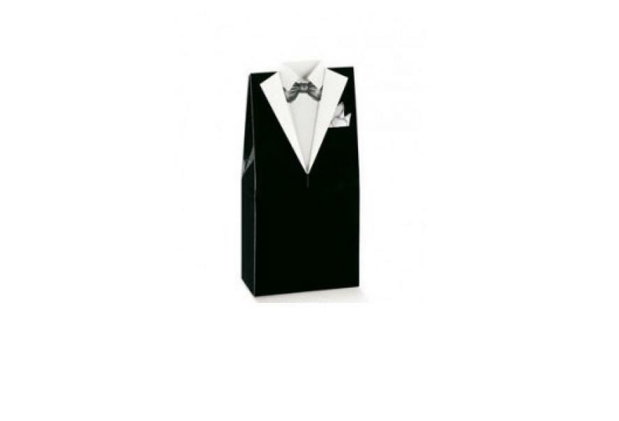 scotton spa scatola porta confetti a forma di smoking 50x30x100 mm - 10 pz