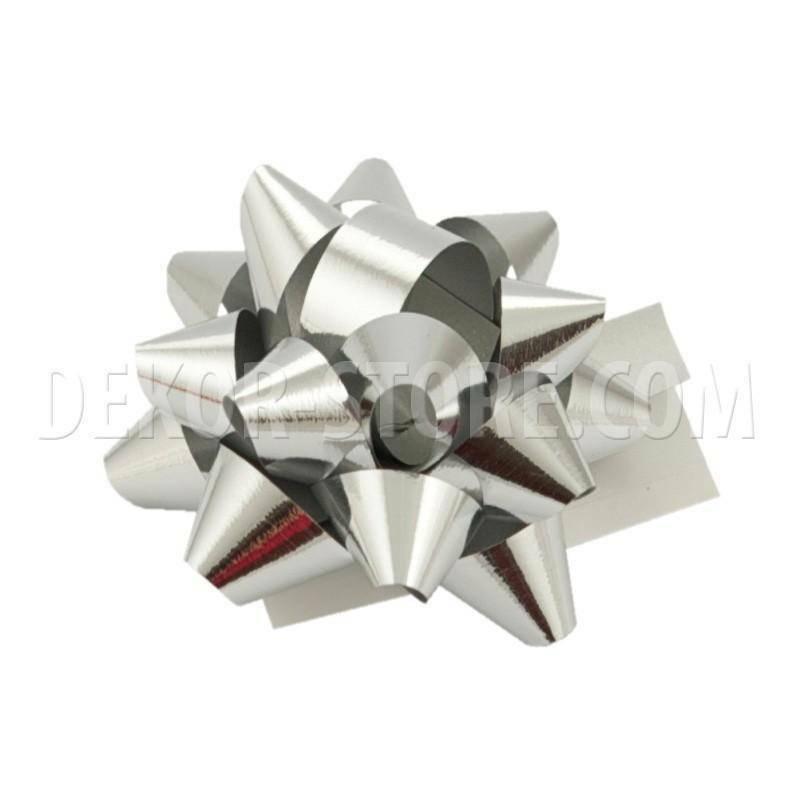 bolis stella mignon nastro reflex 7 mm argento - 50 pz