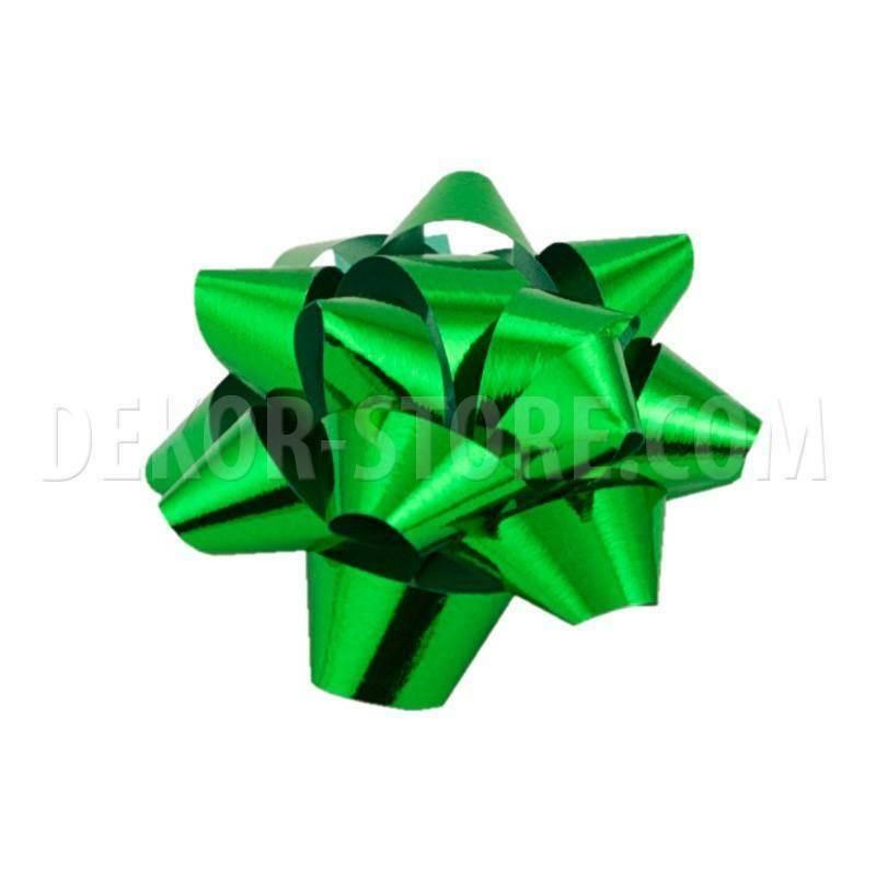 bolis stella mignon nastro reflex 7 mm verde muschio - 50 pz