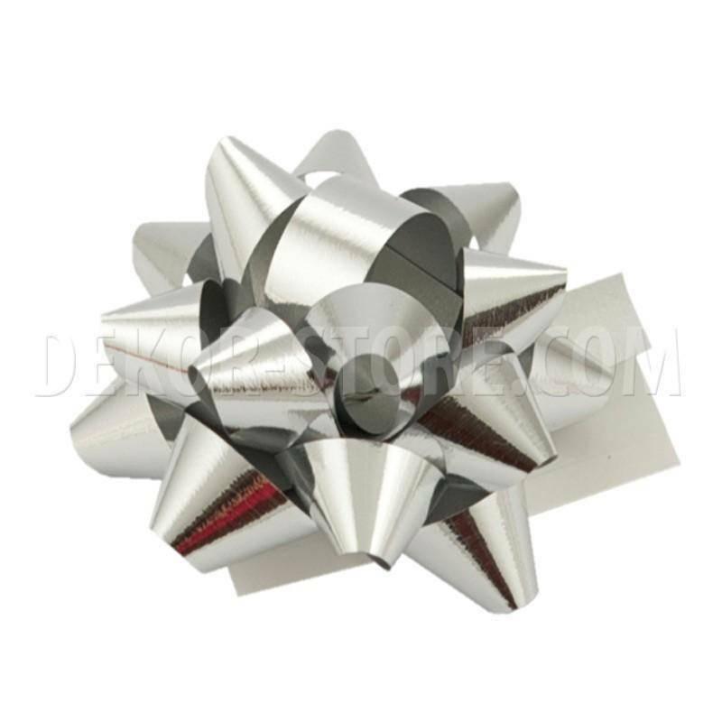 bolis stella nastro reflex 10 mm argento - 50 pz