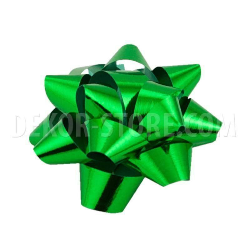 bolis stella nastro reflex 10 mm verde muschio - 50 pz