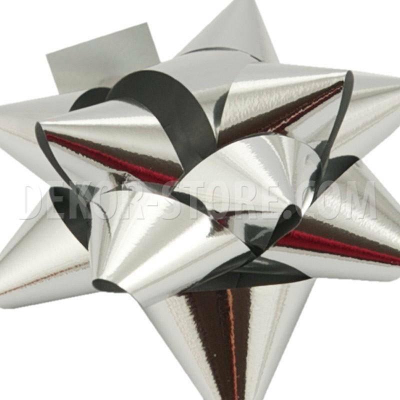 bolis stella nastro reflex 15 mm argento - 25 pz