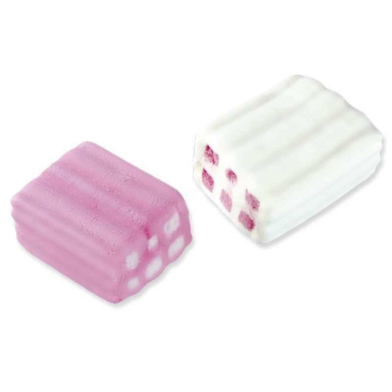 fini fini mattoncino bianco e rosa 1 kg - marshmallow