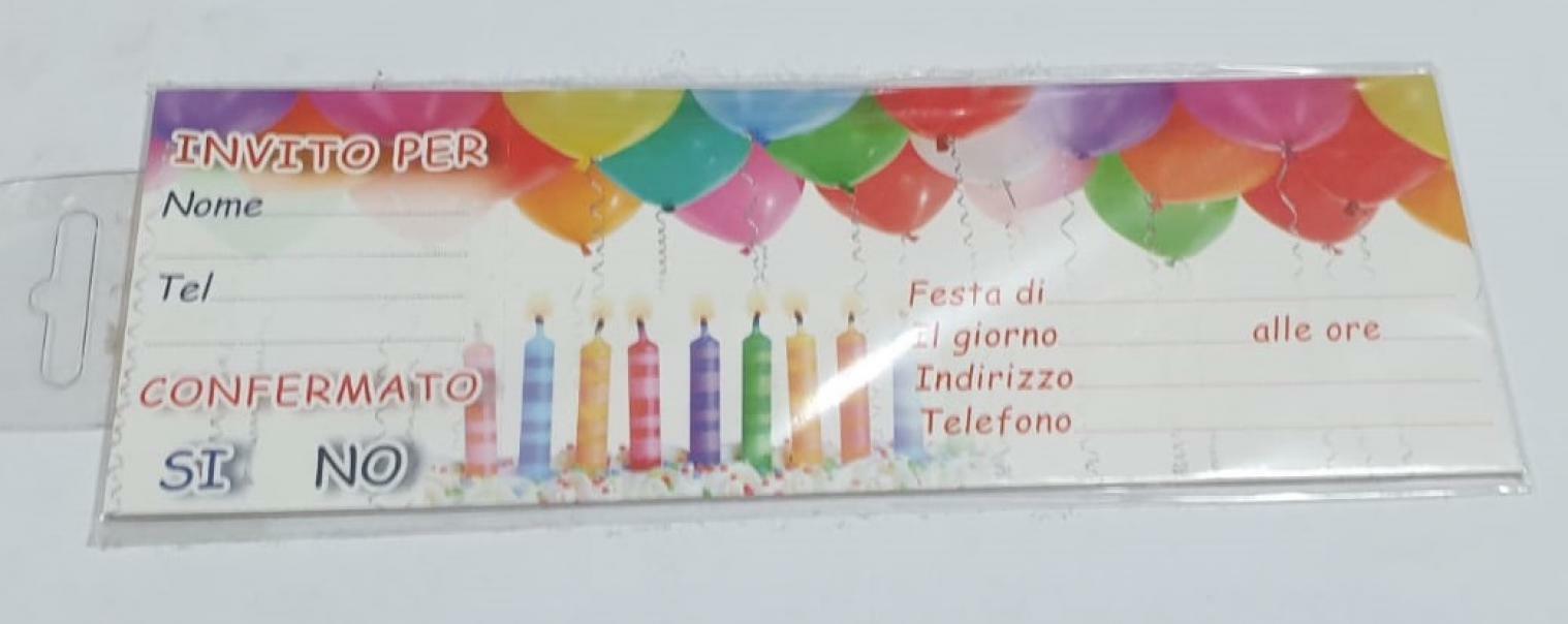 florio florio blocco 15 inviti compleanno candeline