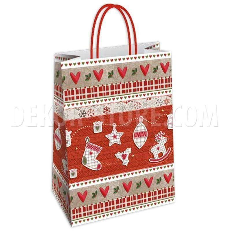 shopper in carta lugano - 26x12x35 cm