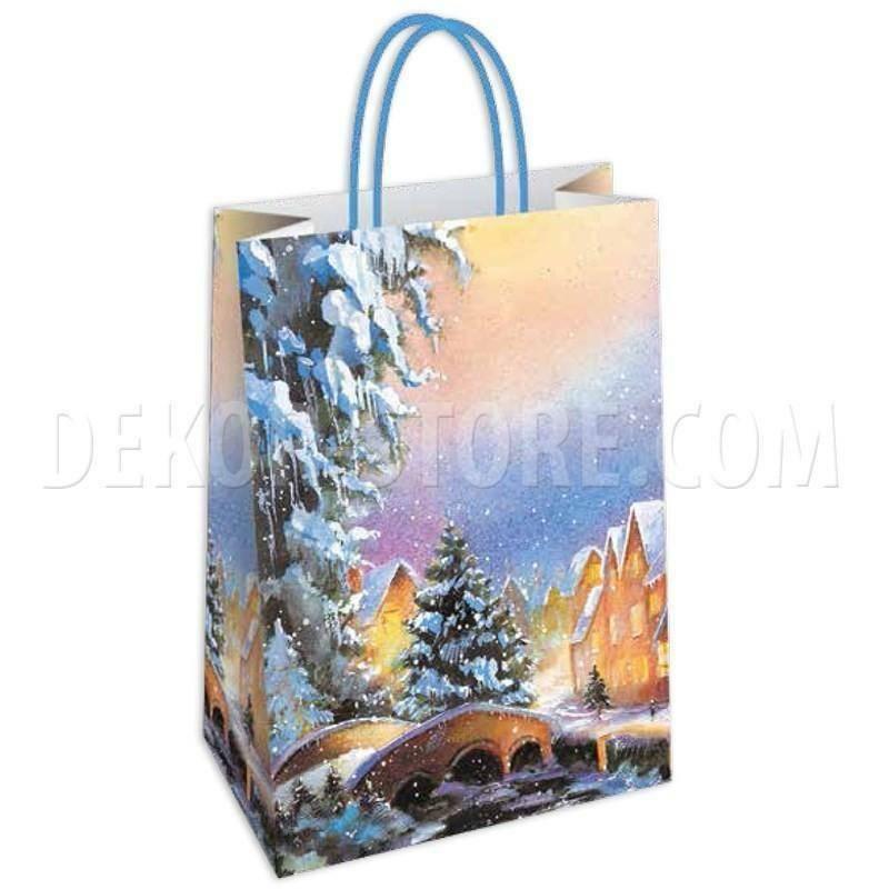 shopper in carta nevada - 26x12x35 cm