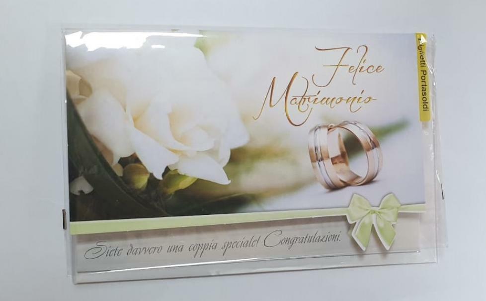 florio florio biglietto porta soldi matrimonio con fiocco verde chiaro