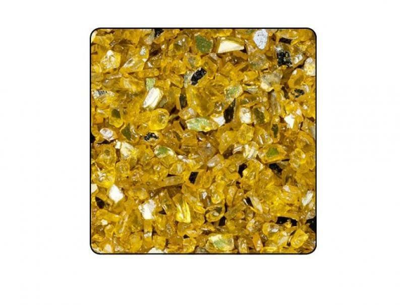 eurosand vetro specchiato 1-4 mm giallo (1 kg)