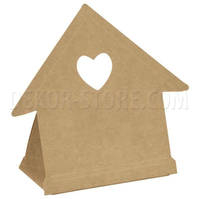 scotton spa scotton spa scatola 60x35xh90mm a forma di gabbietta con cuore - avana