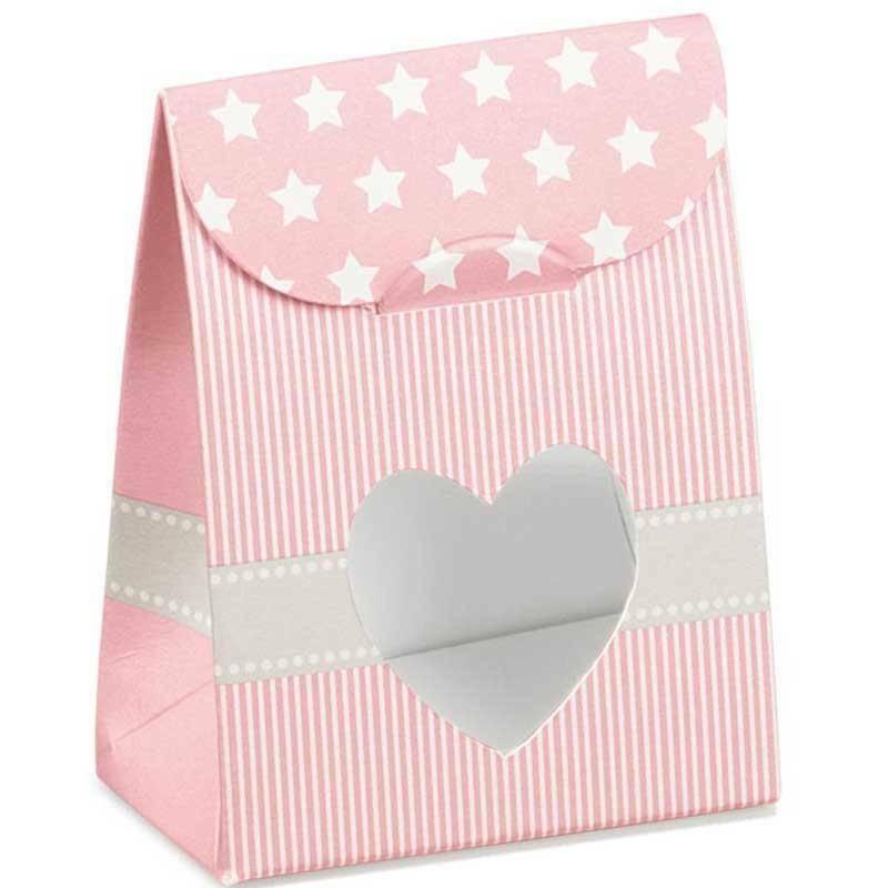 scotton spa scotton spa sacchetto 60x35xh80mm con finestra a cuore - star rosa