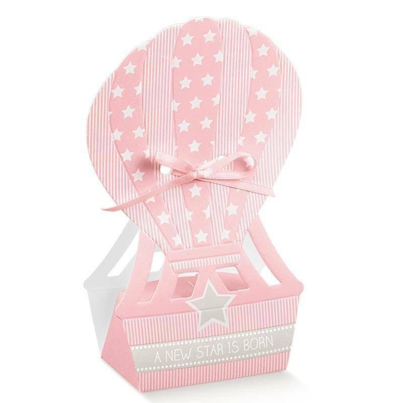 scotton spa scotton spa scatola 130x100x400 mm in cartoncino a forma di mongolfiera star rosa