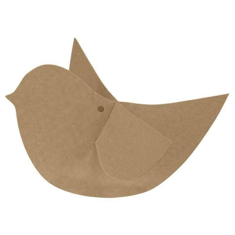 scotton spa scotton spa uccellini 115x75 mm set 4 pz - cartoncino color avana